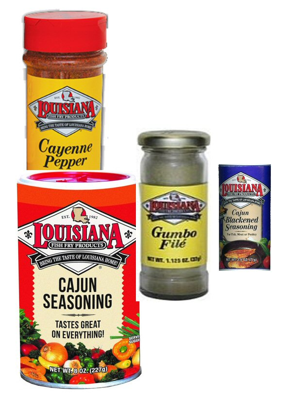 Louisiana fish fry cajun cajun seasoning gumbo file for Fish fry seasoning